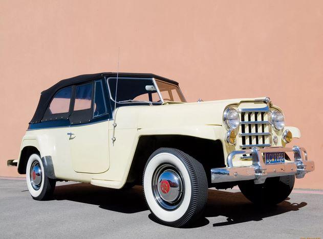 в 1948 году выпущен полноприводный  американский кабриолет Willys Jeepster. Этот спортивный автомобиль предназначался для военных