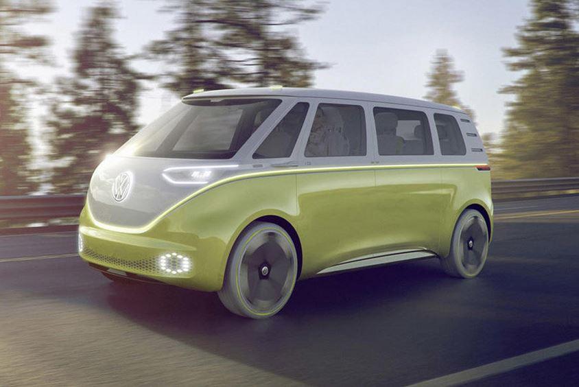 Электрический минивэн Volkswagen I.D. Buzz,
