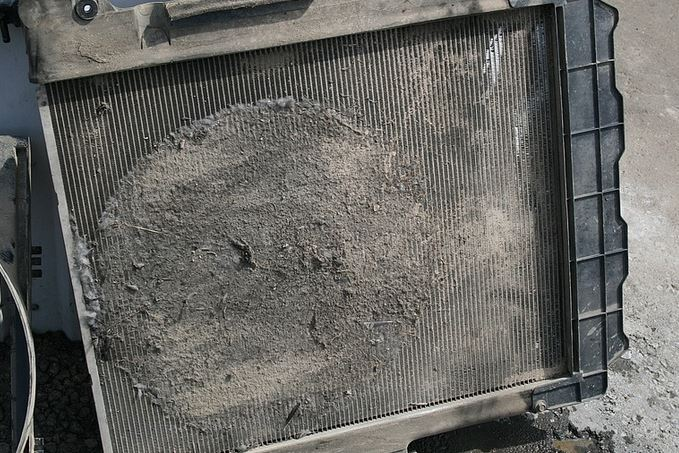 Забитый радиатор охлаждения. закипел