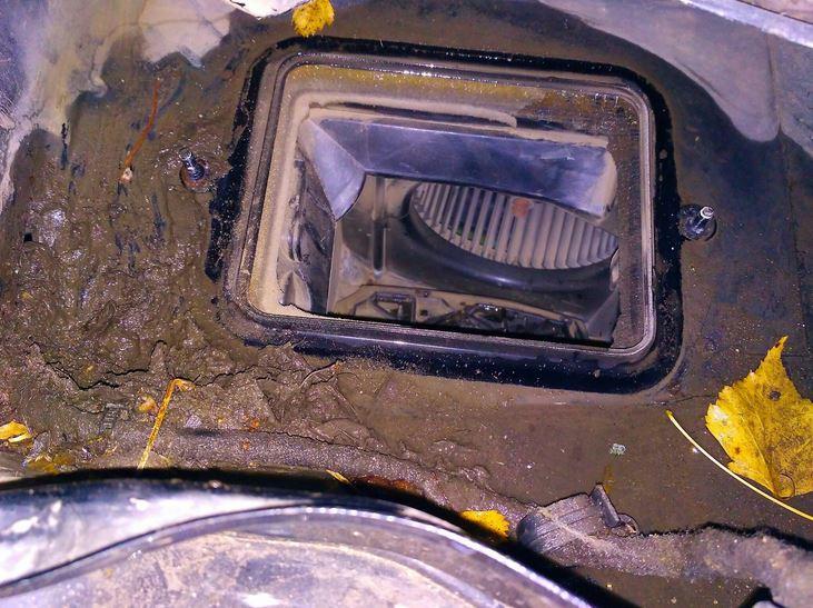 потеют окна. Проблемы с печкой. Чистка воздухозаборника и печного радиатора.