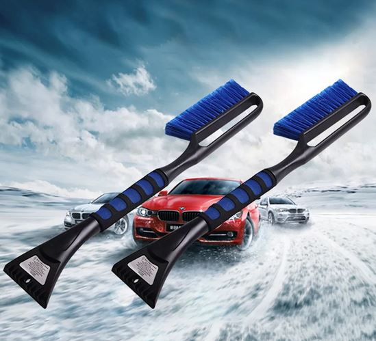 Щетка-скребок для снега и льда. Зимние аксессуары для авто