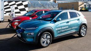 Hyundai Kona Electric проехал без подзарядки 1026 км