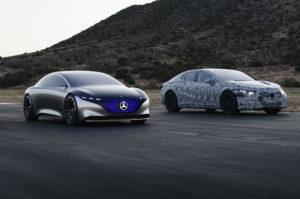 Mercedes-Benz EQS 2021 первый взгляд на интерьер