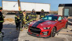 Ford Mustang был уничтожен в качестве тренировки