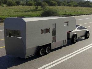 Tesla Cybertruck Custom RV дом на колёсах для электрического пикапа