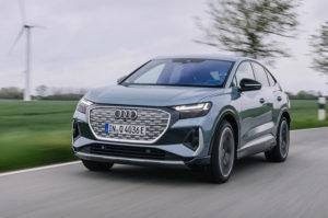 Audi Q4 E-tron способен преодолеть 500 километров на одном заряде